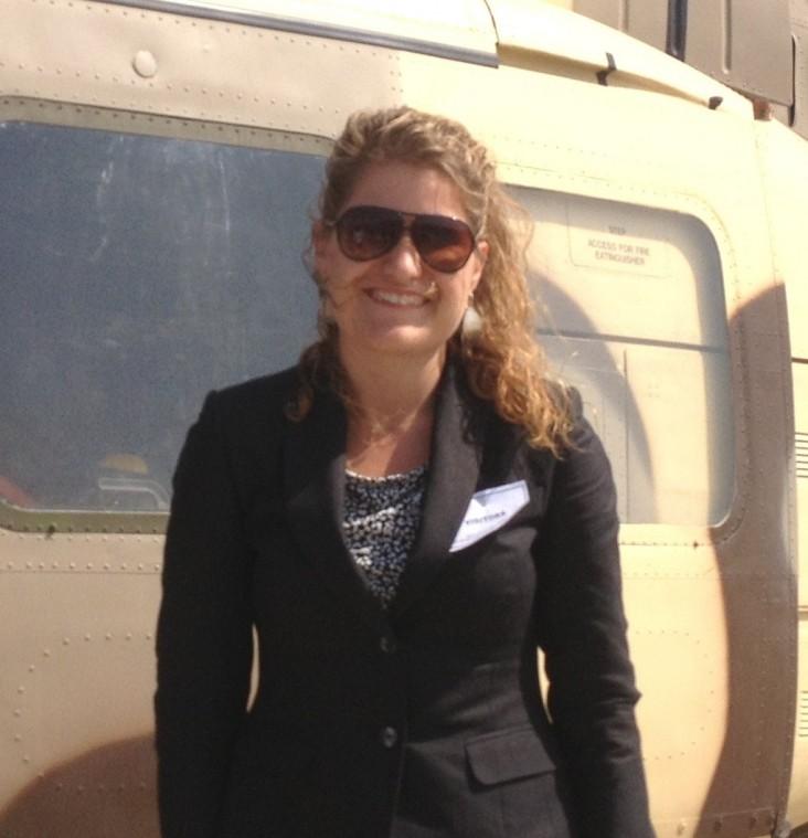 Brit Steiner during a visit to the Gomal Zam Dam