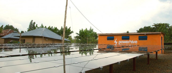 A Powerhive solar microgrid in western Kenya