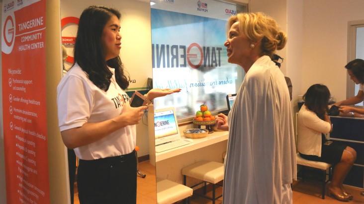Ambassador Deborah Birx visits the Tangerine Community Health Center in Bangkok.