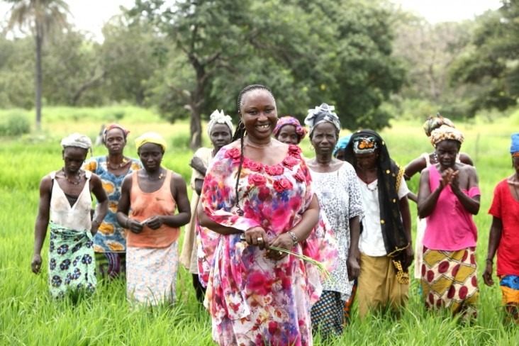 Anna Gaye is one of 600 members of a community farmers' organization.
