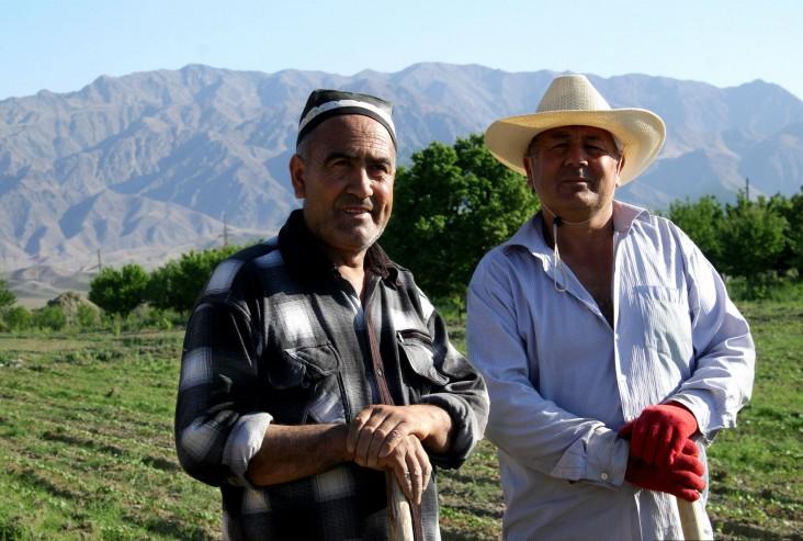 Farmers in Tajikistan
