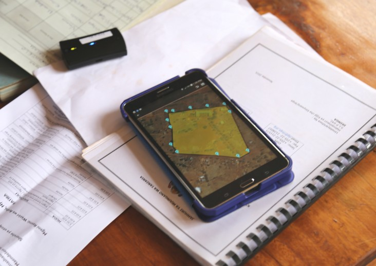 Using the mobile application to secure tenure, or MAST, para-surveyors can plot coordinates to an accuracy of 1 meter.