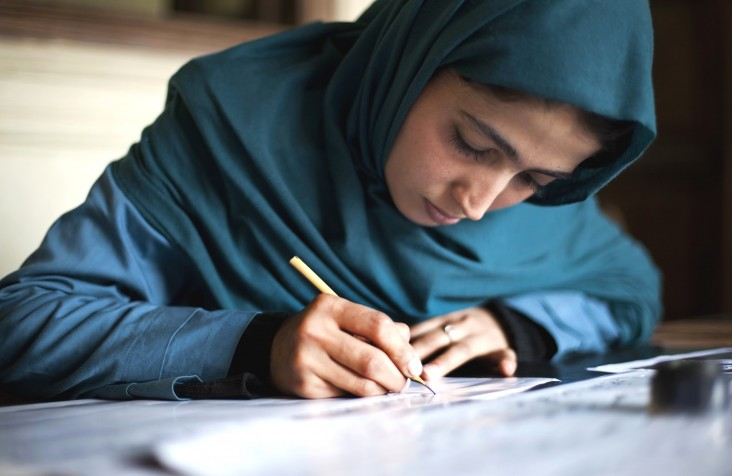 A student at the Institute for Afghan Arts & Architecture
