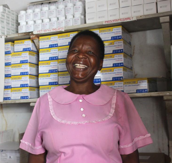 Viola Chisadza has been a nurse aid at Mukamba since 1982.
