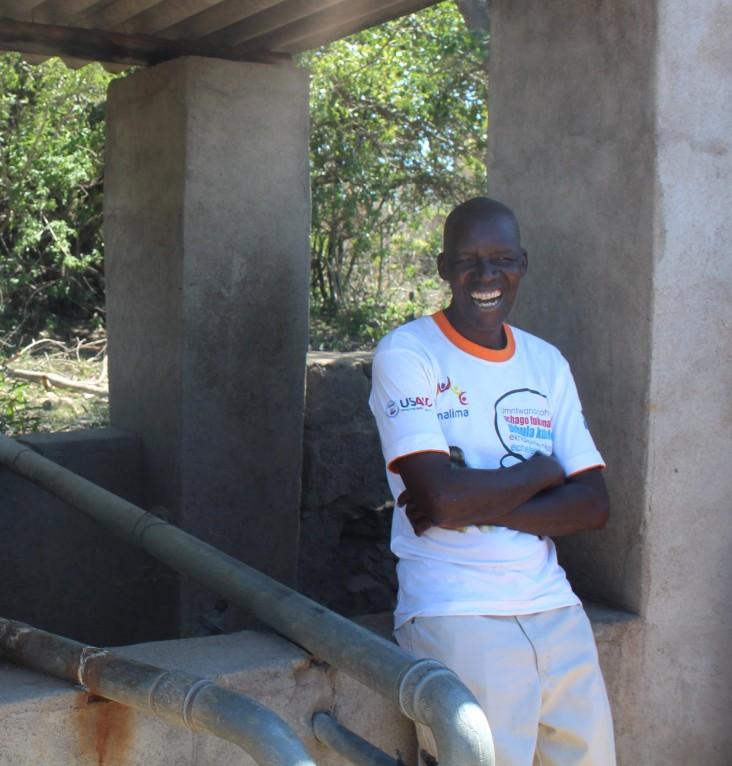 Richard Ndebele at dip tank