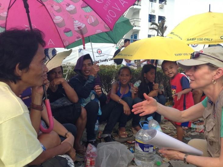 Assistant Administrator, Nancy Lindborg in Tacloban City-Typhoon Haiyan