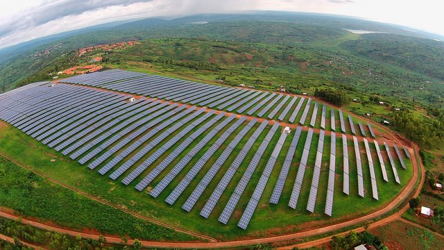 Solar field at the Agahozo Shalom Youth Village in Rwanda