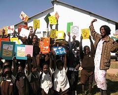 Children from Lusaka's Vera Chiluba school in Zambia.