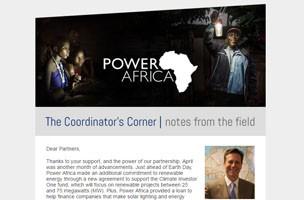 pa newsletter screenshot