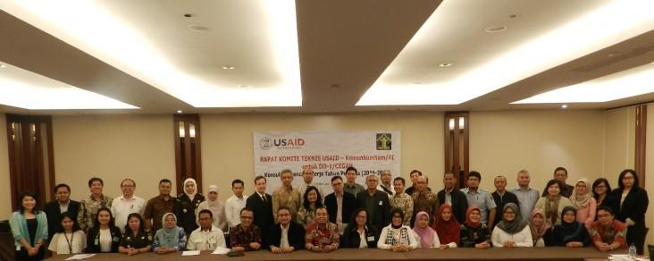 Perwakilan dari 16 lembaga Pemerintah Indonesia mengikuti konsultasi intensif pada tanggal 25 July, 2016 untuk memastikan bahwa kegiatan CEGAH selaras dengan prioritas Pemerintah Indonesia.