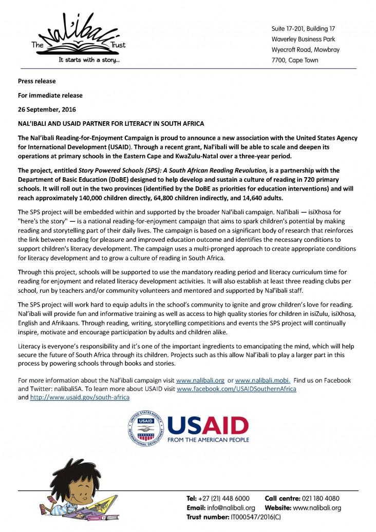 Nal'ibali partners with USAID