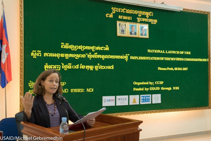 Remarks by Polly Dunford, Mission Director, USAID Cambodia, The National Launch of My Open Commune