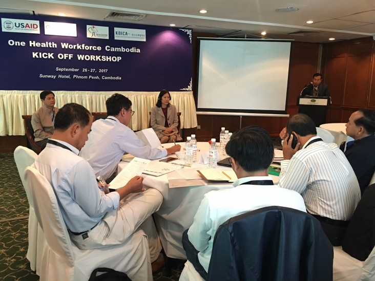 """Remarks by Christina Lau, Deputy Director, Office of Public Health and Education, USAID/Cambodia, Opening Ceremony of the Kick-Off Workshop for """"One Health Workforce"""""""