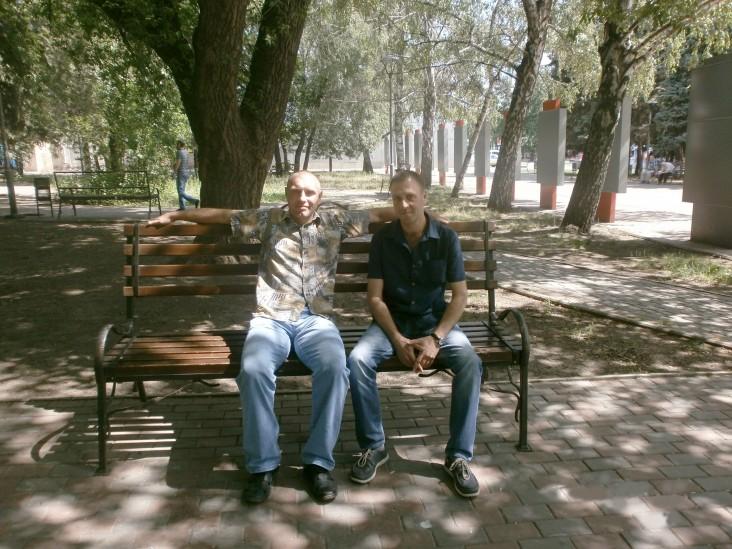 Serhiy (left) and Andriy Ovsyannikov, a Start Project coordinator from Kryvi Rih.