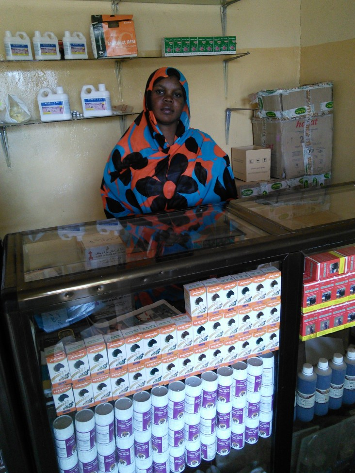 USAID support enabled Anahed Mohamed Ahmed to become a livestock vaccine vendor.