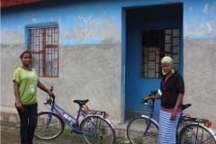 Chaltu Wata and Aster Roba, who are two of the more than 38,000 health extension workers in Ethiopia.