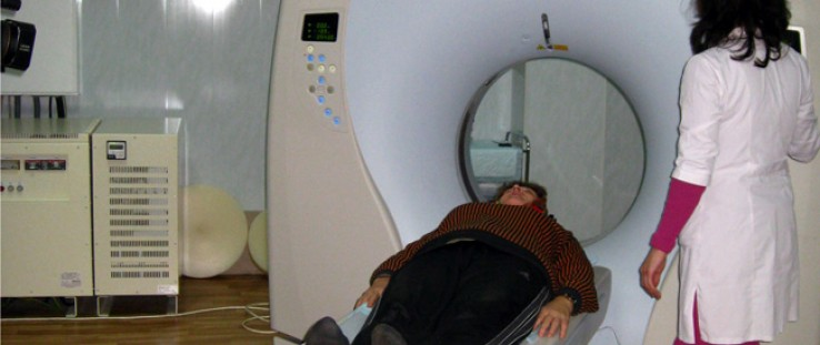 Purchase of hospital equipment in Zhytomyr, such as the computer tomographic system used for radiodiagnostics, was made possible