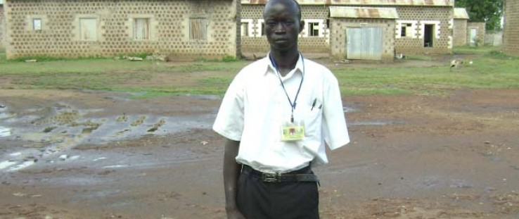 Gilaso Odong, 19, lost an arm as a child soldier but now receives USAID support to study at Torit Secondary School in Eastern Eq