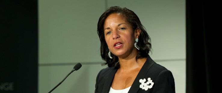 President Obama's National Security Adviser Susan Rice gave the keynote address at the USAID-sponsored SLAB event