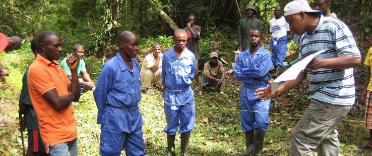 : The Liberian Ministry of Land, Mines and Energy, supported by USAID, is working with local communities to explain the benefits