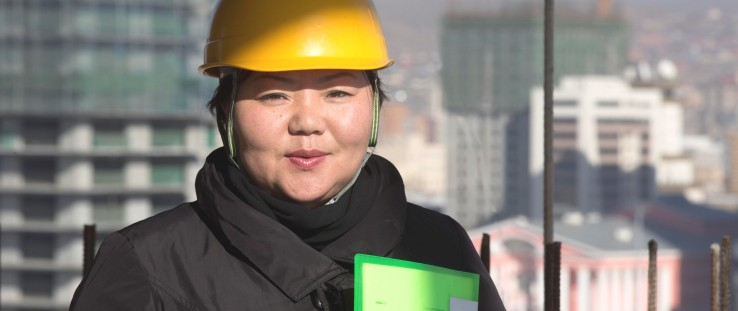 Urantogs Chimiddorj holds a signed supply contract for her company's new cement plant.