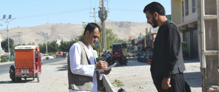 As a USAID project monitor, Sediq Ibrahimi, conducts regular site visits under Tier 1 monitoring.