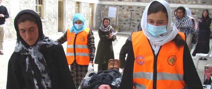USAID partner Focus Humanitarian Assistance trains women leaders to serve as first responders as part of disaster risk reduction