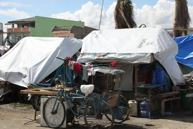 USAID donated plastic sheets used by Typhoon Yolanda/Haiyan affected families
