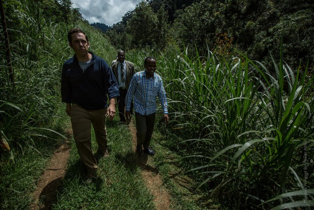 Brian Kelly (managing director) and Samual Mwangi (Energy Engineer) of Virunga Power are building a hydro plant to power a valle
