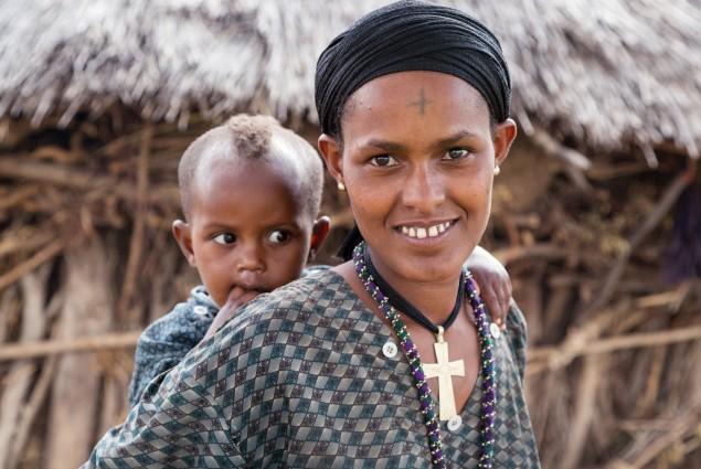 Mother and baby. (Neighbor of Gebiyanesh Ambaw).