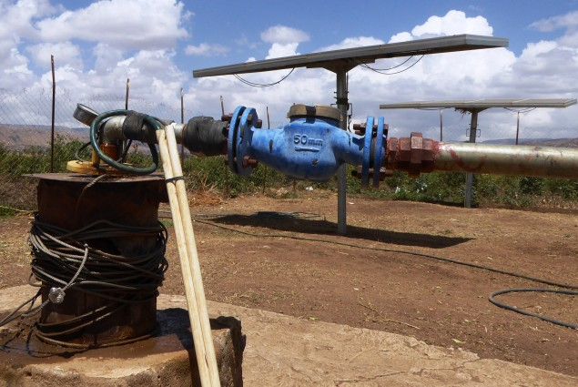 The Gurbadley water supply scheme borehole is solar-powered. It has a 50,000 liter reservoir, a 1,500m pipeline and two water points, each with four taps. The scheme provides approximately 2,100 people with year-round access to a safe water source within a reduced fetching distance.