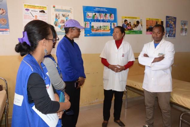 Visit to a health facility in Mahitsy, in northern Antananarivo