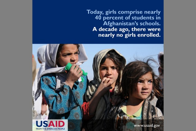 Today, girls comprise nearly 40 percent of students in Afghanistan's schools. A decade ago, there were nearly no girls enrolled.