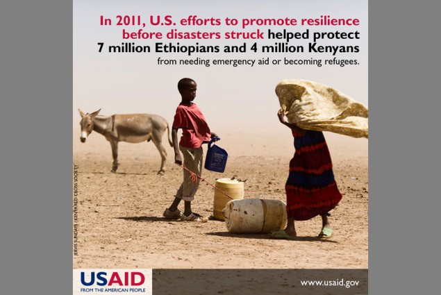 In 2011, U.S. efforts to promote resilience before disasters struck helped protect 7 million Ethiopians and 4 million Kenyans fr