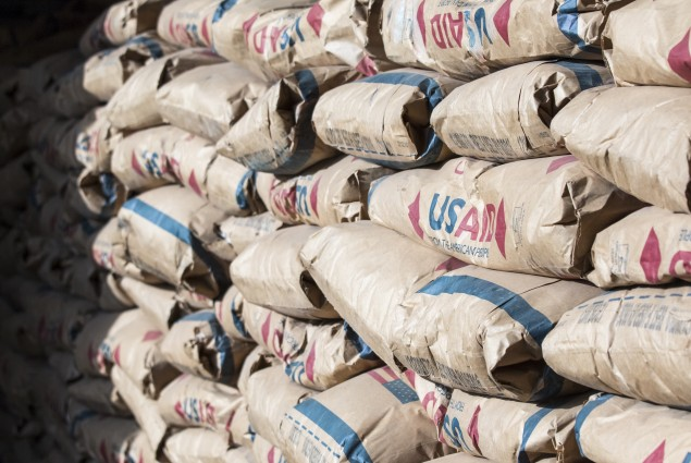 WFP collects and distributes food items for the Somali Region in Ethiopia in warehouses in Jigjiga.