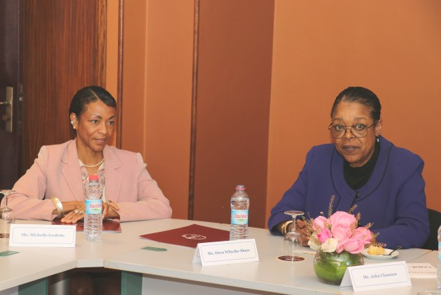 Ms. Oren Whyche-Shaw addresses the American Chamber of Commerce