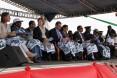 US Ambassador Robert Yamate, Health Minister Prof. Andriamanarivo, and PMI deputy Coordinator Dr. Nahlen in attendance