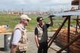 DAA Greg Beck with OFDA's Ben Hemingway assessing reconstruction efforts