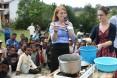 Peace Corps Volunteers show how to make neem cream