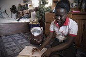When the Ebola crisis shut down schools across Liberia, Aminata continued her studies at home. At 16, she\'s the oldest of her s