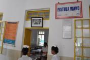 Outside the fistula ward at Kundumini hospital in Bangladesh.
