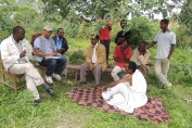 OFDA staff discussing CBAMFEW project with farmers and MoA staff in Awasa, Ethiopia