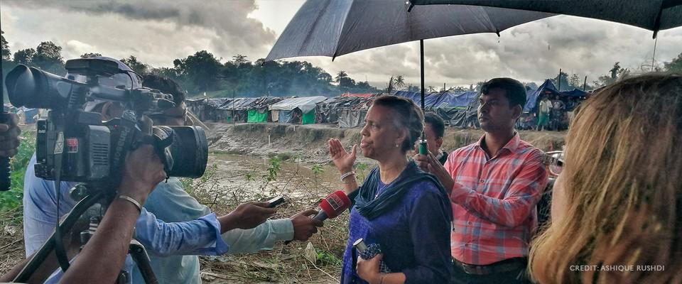 U.S. Ambassador Bernicat visits Rohingya Camps