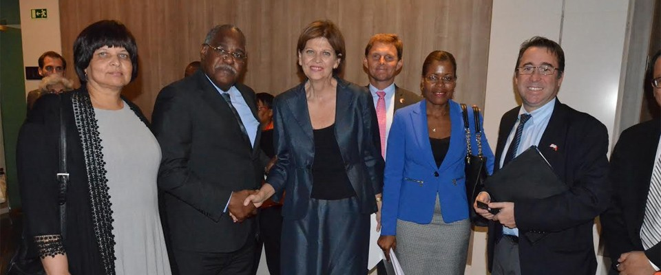 PEPFAR Coordinator, Regina Parham; Minister of Heath, Dr. Jose Van-Dunem, U.S Ambassador to Angola, Helen