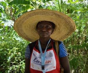 Lucamène Chéry, a food vendor in Haiti.