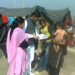 Nighat Sultan, left, has helped establish advocacy camps in Meerut.