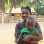 Little Mahazomaro and his mother Salalasoa