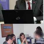 Photo collage of professor