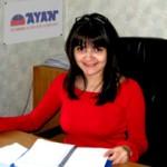Kristina Kolesnikova at her workplace.