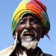 A beneficiary of the USAID-supported Productive Safety Net Program living near the Mai-Aqui site, in Tigray, Ethiopia, gushes ab